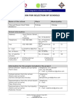 1. Application for Selection of Schools Prevod