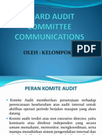 BOARD AUDIT COMMITTEE COMMUNICATIONS