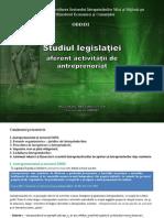 Studiul legislatiei