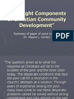 The Eight Components of Christian Community Development