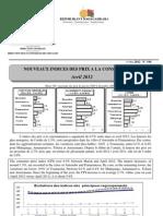 Nouveaux Indices des prix à la consommation - Avril 2012 (INSTAT - 2012)