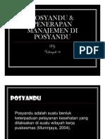 Manajemen Slide Posyandu Penerapan Manajemen Di Posyandu