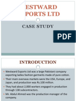 Westward Exports Case-study