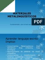 MATERIALES METALINGÚÍSTICOS