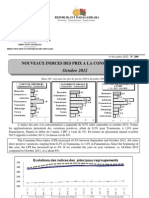 Nouveaux Indices des prix à la consommation - Octobre 2012 (INSTAT - 2012)