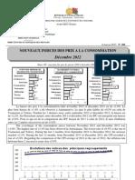 Nouveaux Indices des prix à la consommation - Décembre 2012 (INSTAT - 2012)