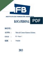 Productos Banca Personal