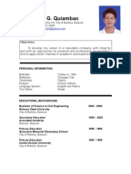 fresh graduate resume document mark ryan quiambao resume philippines - Fresh Graduate Resume Sample