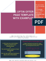 Optin Offer Homepage Template