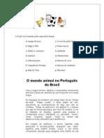 O mundo animal no Português do Brasil