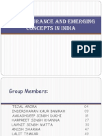 Bancassurance and Emerging Concepts in India