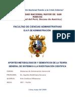 Monografía Teoría General de Sistemas