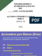 Motores y Transformadores Presentacion en (Ppt)