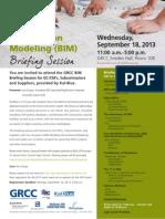 BIM Briefing Session 9.18.13