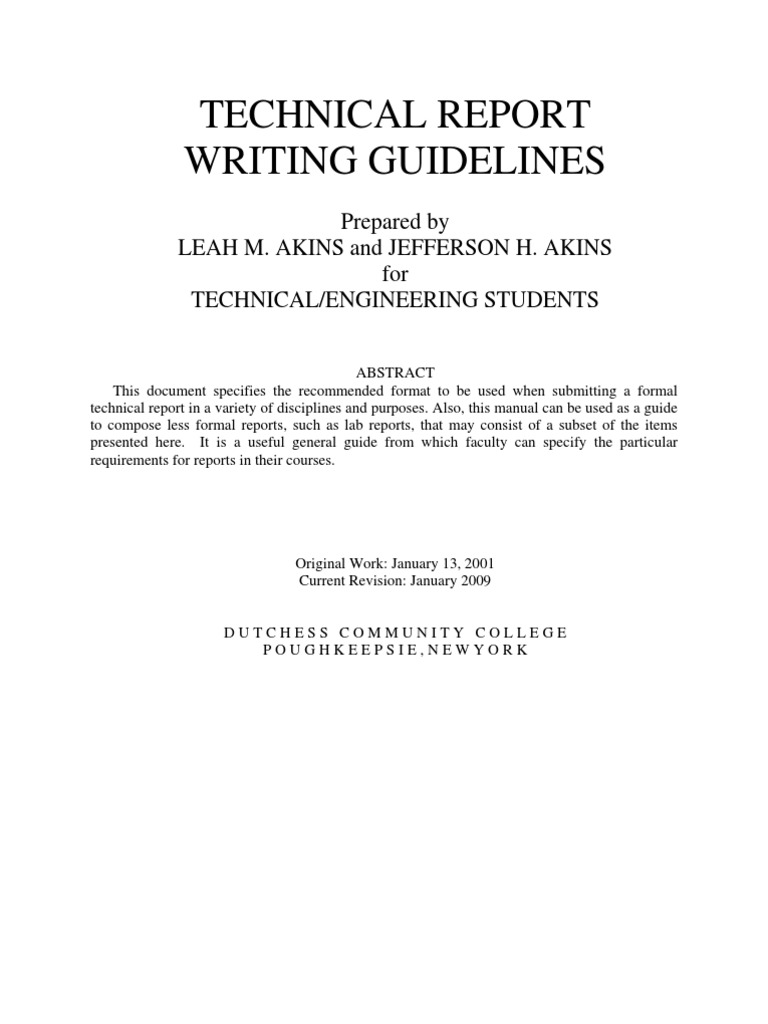 Report writing guidelines pdf & International and