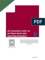 CLADEM Documento Consolidado Feminicidio-Femicidio