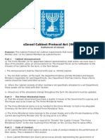 eIsrael Cabinet Protocol Act - 06-09