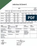 Jadual Sem 3 2013