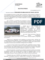 02/09/13 Germán Tenorio Vasconcelos capacita Sso a Operadores de Ambulancias de Todo El Sector