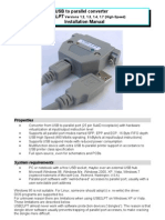 USB to Parallel Converter - Installation Manual