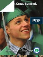 2013 Notre Dame College Prep Enrollment Viewbook