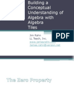 Palmyra Building a Conceptual Understanding for Algebra With Algebra Tiles