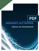 Memory Lettering - Manual Del Programador