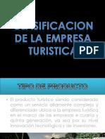 Clasificacion de La Empresa Turistica