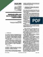 Fischer - Administração Pública como área de conhecimento e ensino
