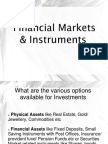 Financial Markets and Instruments