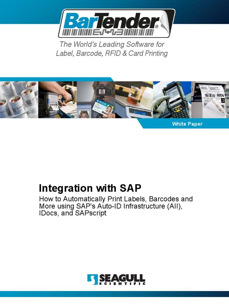 Sap Barcode and Label Printing Integration | Port (Computer