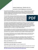 Departmental Research Facilitators Advert HR11613