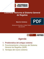Reforma Sistema Genmeral de Regalias
