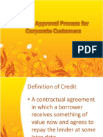 Credit Approval Process for Corporate Customers
