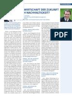 Bankwirtschaft der Zukunft durch Nachhaltigkeit? Interview mit Dr. Fred Luks, Bank Austria – UniCredit Group, Nachhaltigkeitsmanagement, und Dr. Richard Pircher, Studiengangsleiter Bank- und Finanzwirtschaft an der FH des bfi Wien