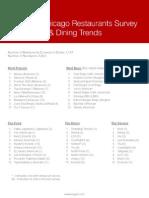 2014 Chicago Restaurants Survey Results & Dining Trends