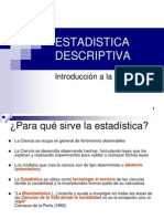 1 ESTADISTICA DESCRIPTIVA (introduccion)