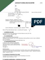 Site TS C 10 Esterification Et Hydrolyse d'Un Ester