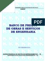 Banco Obras Servicos Engenharia Fev13