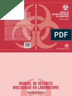 manuel de securité au labo bio