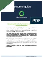 Solar PV Consumer Guide Vol21 19 December 2012