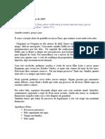 carta missionária Odair e Leilda - Uruguai