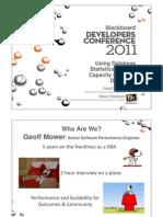 Using Database Statistics to Make Capacity Planning Decisions