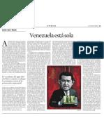 Xavier Sala i Martín. Venezuela está sola
