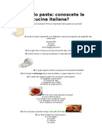Conosci La Cucina Italiana_quiz