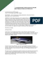 Development of a Lightweight Tubular Space Frame
