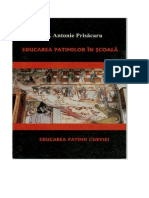 Antonie Prisacaru - Educarea Patimilor in Scoala