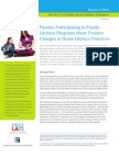 Parents Participating in Family Literacy Programs Show Positive Changes in Home Literacy Practices
