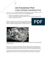 How Automatic Transmissions Work ?