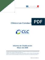 Clinica Las Condes Informe de Clasificacion Mayo08